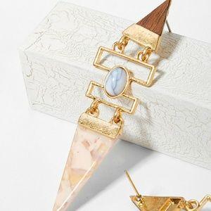 Triangle Marble Geometric Earrings